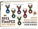 All 6 different FinnPEZ 2013 pins